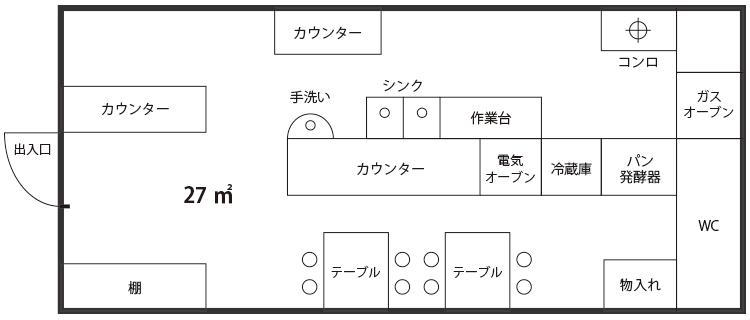 店舗 備品配置図